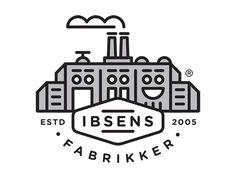 Ibsens Fabrikker - cute modern logo design from Denmark-based Form Agenda