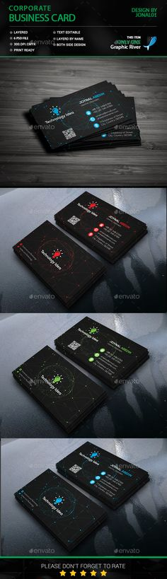 Business Card - Business Cards Print Templates Download here: https://graphicriver.net/item/business-card/18408603?ref=classicdesignp