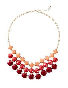 3-Tone Statement Necklace from THELIMITED.com #TheLimited