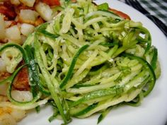 Zucchini Ribbons with Basil Butter