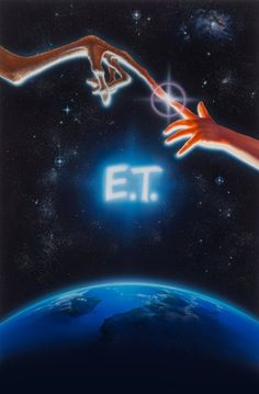 John Alvin (American, 1948-2008) E.T. the Extra-Terrestrial, original promotional movie illustration, 1982 Acrylic on board 41 x 27 in. (sight) Signed lower right