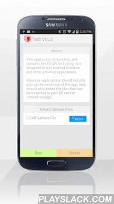 Test Virus  Android App - playslack.com , NOTE: THIS APP IS HARMLESS. This is a test Virus to test the functionality of any antivirus product for Android.Antivirus products for Android should detect this app as a threat. Secondly this app has the capability to:1) Extract a random file onto your Android device that meets the EICAR standards for antivirus detection2) Extract a zip file onto your Android device that contains a compressed file that meets the EICAR standards for antivirus…