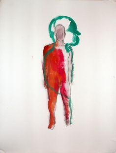 """Saatchi Online Artist: Mathieu Flammarion; Graphite, Drawing """"Spirit figure 3"""""""