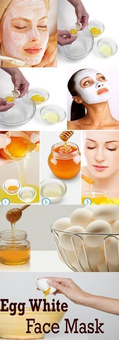 Egg White Face Mask - Whenever I make Eggs Benedict, I'll just use the whites for this so there's no waste. (via Medicraze) #shelovesnatural #naturalskincare #diybeauty Good Picture!