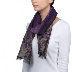 The Violette: Purple & Olive Cotton Wool Scarf             SKU: FLAMBOYANT   https://scarfaround.com/collections/cotton-blend-scarf-purple-olive/