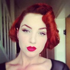 Redhead vintage hair and make-up inspiration, 1950s