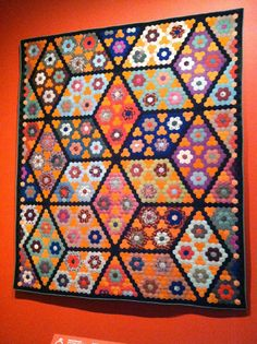 A Quilter by Night: Under the wire... Field of Diamonds, United States, about 1860.  From  Quilts and Color - The Pilgrim/Roy Collection