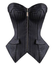 Another great find on Daisy Corsets Black Pinstripe Strapless Corset - . - Another great find on Daisy Corsets Black Pinstripe Strapless Corset – Women & Plus by Daisy Corsets Source by nhilkemeier - Look Fashion, Fashion Outfits, Womens Fashion, Fashion Design, Corset Vintage, Strapless Corset, Mode Editorials, Overbust Corset, Mode Inspiration
