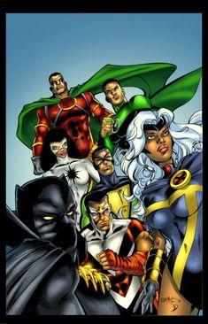 black superheroes | images of positive black superheroes and got them thrown together