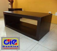 Mesa de centro (rectangular) En color chocolate.