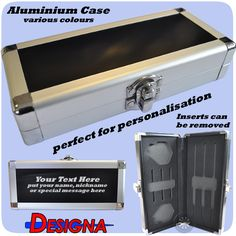 Personalized Darts Case - Aluminium Case - Silver with Black Centre - with removable inserts - Silver http://www.dartscorner.co.uk/product_info.php?cPath=495&products_id=67104