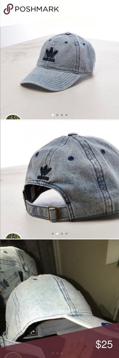Adidas originals denim hat dad cap baseball hat Brand new. Never used. Still have tags Message me anytime! Follow me @styledbypersia to get a discount on this item. Tags: Free Ship Calvin Klein Sports Bra Bralette Panty Thong Set Boyshort Legging Shorts CK Lingerie Underwear Pajamas adidas Accessories Hats