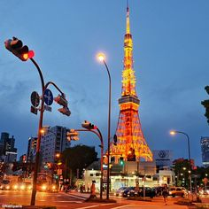 Tokyo Tower Tokyo by night