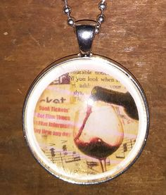 Check out this item in my Etsy shop https://www.etsy.com/listing/538004940/merlot-necklace-wine-necklace-bottoms-up