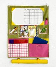 Just bought this on #zulily getting ready for kindergarten in the fall! Green & Pink Homework Caddy  #zulilyfinds