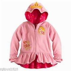 Disney Princess Aurora ZipUp Hoodie New Child Girl Sweat Jacket Sleeping Beauty