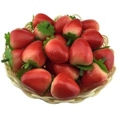 Gresorth 40pcs Artificial Lifelike Simulation Small Strawberry Set Decoration Fake Fruit Home House Kitchen Decoration *** Details can be found by clicking on the image.