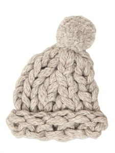 heavy loose chunky knit hat