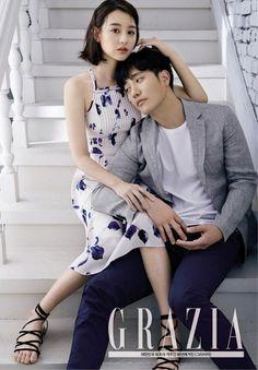 Kim Ji-won & Jin Goo get intimate for 'Grazia' + talk about 'Descendants of the Sun'