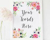 Custom Quote Print Custom print quote, custom Lyrics custom Wall custom printable Custom Typography, personalized prints, custom handwriting