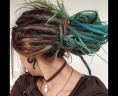 Turquoise blue dreads