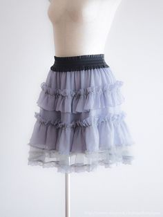 axes femme🌷Spring Organza Skirt Japan Size M Antique Lolita D079🌷Free Shipping #axes_femme