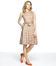 Polka Dot Poplin Dress