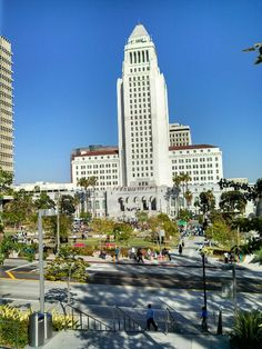 Los Angeles City Hall This was my view getting off the train for five months. Miss LA