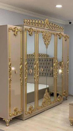 Wood Bed Design, House Furniture Design, Royal Furniture, Luxury Furniture, Bedroom Pop Design, Wardrobe Design Bedroom, Home Room Design, Home Interior Design, Luxury Homes Interior