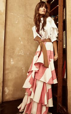 Loving everything she does! Tabasco Linen Skirt by JOHANNA ORTIZ for Preorder on Moda Operandi