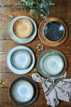Sierra Line 9 Salad Plate — MMclay - Handmade Pottery & Ceramics by MaryMar Keenan 9 Salad Plates (bottom) with Dessert Bowls (top) Ceramic Plates, Ceramic Pottery, Ceramic Art, Pottery Bowls, Thrown Pottery, Slab Pottery, Pottery Wheel, Pottery Ideas, Assiette Design