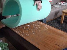 headboard - Plywood, Foam, Cotton Batting, Fabric of your choice!