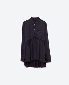 Image 8 of BABYDOLL SHIRT from Zara