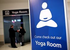 1st yoga studio at an airport - San Francisco International.