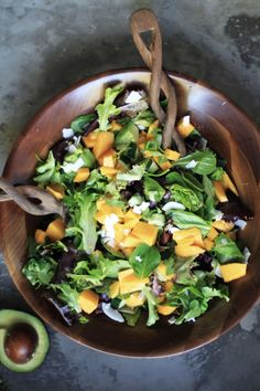 mango coconut summer salad