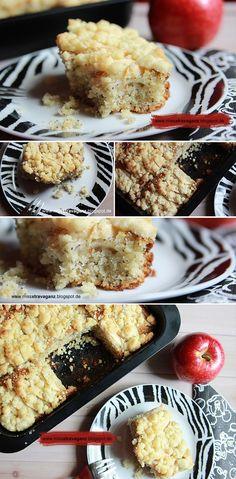 [Rezept] Apfel-Marzipan-Mohn-Streuselkuchen - Miss von Xtravaganz - Lifestyle-Beautyblog