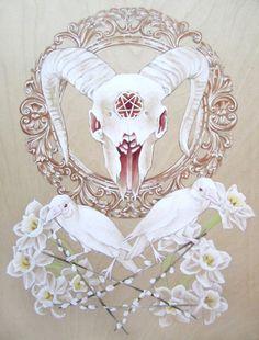 """Satanica Naturalis"" painting by Cory Benhatzel"