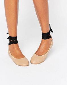 On SALE at 30% OFF! Tie up ballerina by London Rebel. Shoes by London Rebel, Faux-leather upper, Slip-on design, Tied ankle fastening, Round toe, Wipe clean, 100% Other Ma...
