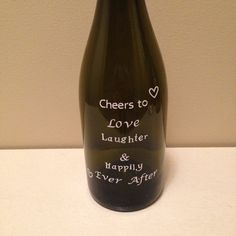 Decrotive Wine Bottle Cheers to Love by KrystlesCraftCloset