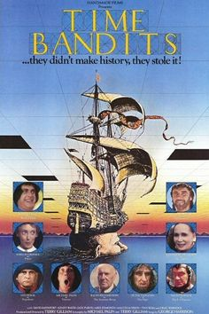 Time Bandits (Avco Embassy, One Sheet X Fantasy. Starring John Cleese, Sean Connery, - Available at Sunday Internet Movie Poster. About Time Movie, Movie Posters, Fantasy Films, Movies, Movie Memorabilia, Favorite Movies, Film, Author Event, Creepy Kids