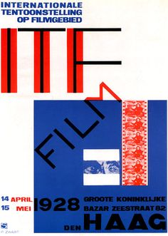 Film poster designed by Piet Zwart 1928.