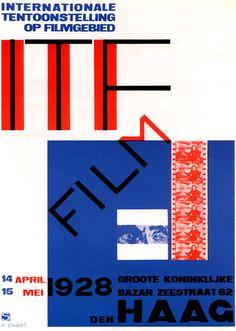 Piet Zwart (1885-1977) – Affiche pour  une exposition sur le cinéma (1928)