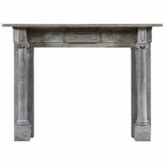 Antique English Regency Period Column Fireplace Mantle