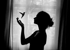 black and white  Photography | bird-black-and-white-girl-photography-pretty-Favim.com-426415.jpg
