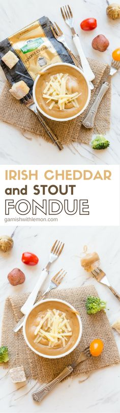 "Nothing screams ""party"" like fondue, and this Irish Cheddar and Stout Fondue will be the hit of your St. Patrick's Day bash!"
