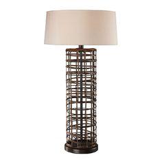 Rattan One-Light Table Lamp