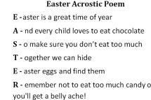 Easter-poem.JPG - Photo Courtesy of Janelle Cox