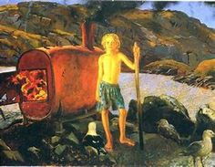 Jamie Wyeth Cat Bates of Monhegan - 1995 Jamie Wyeth, Andrew Wyeth, Nc Wyeth, Monhegan Island, Art Database, Beauty Art, American Artists, Lovers Art, Great Artists