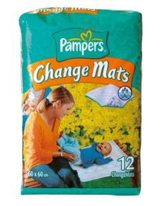 Pampers Change Mats - 12 Pack - Boots