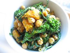 Roasted Butternut Squash and Broccoli Rabe